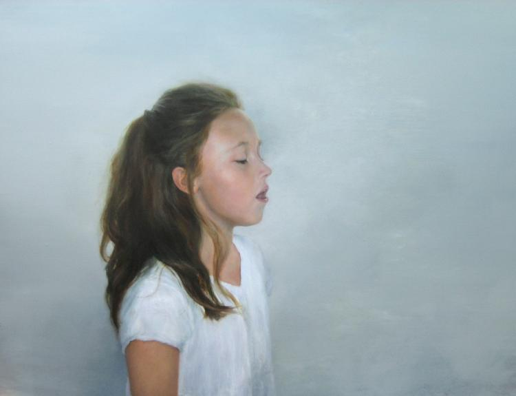 "Sing, 2008, 48"" x 60"", oil on canvas"