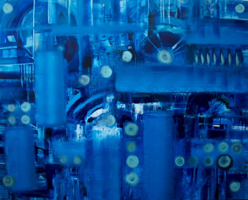 Blue Engineering-48x60in.acrylic-on-canvas-kozyuk-khrystyna