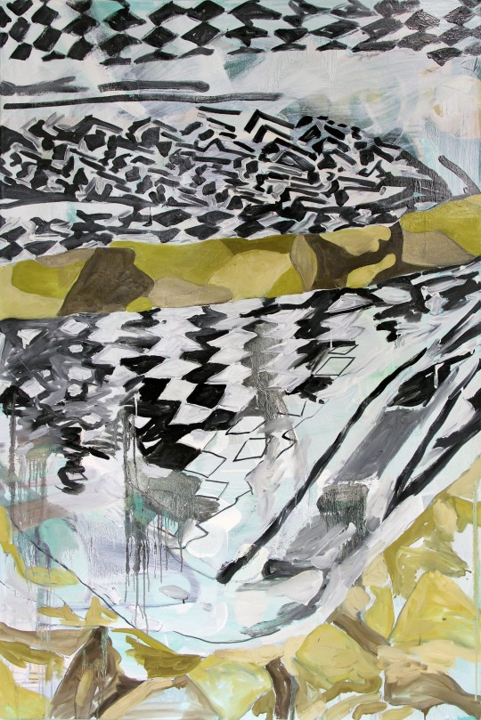 Camouflage (scarf no.3) 2013 Oil on canvas 60 x 40""