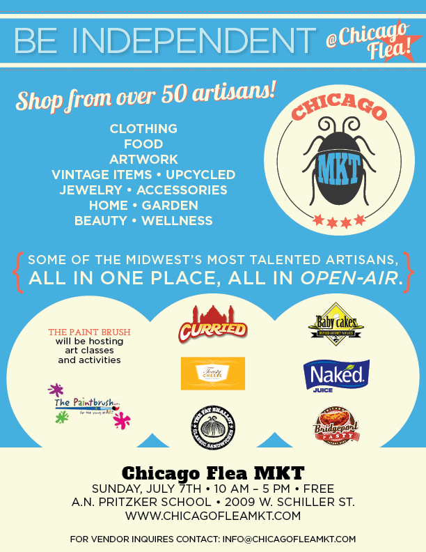 Chicago Flea MKT Flyer- July 7th