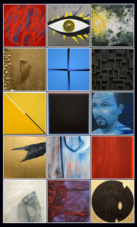 """Disparate Imgaes"" by Javier Chavira, mixed media"