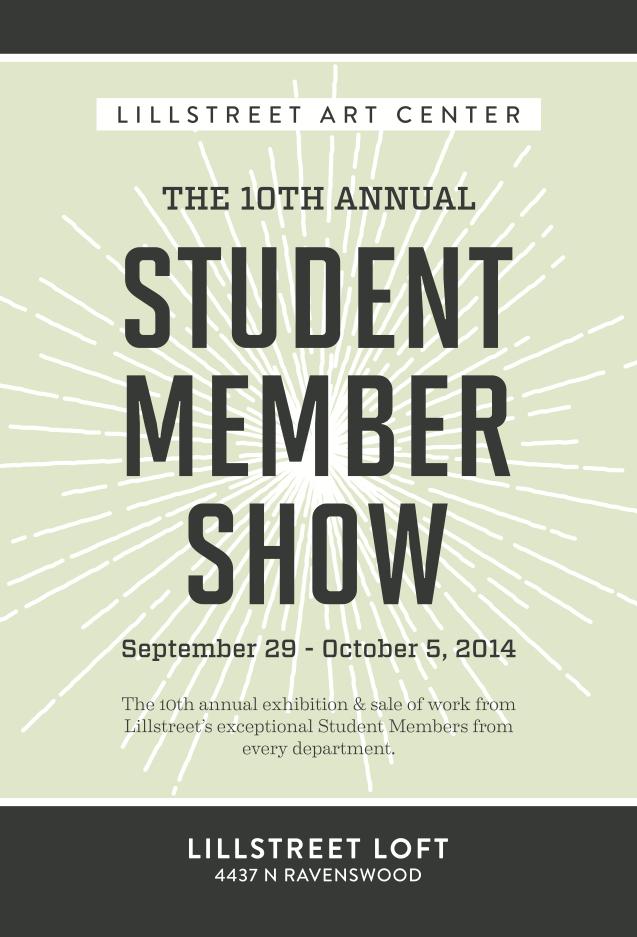 Lillstreet MemberShow2014 postcard FRONT