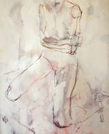 """""""Untitled Body"""", 2005-Mixed Media on canvas. 46x42in."""