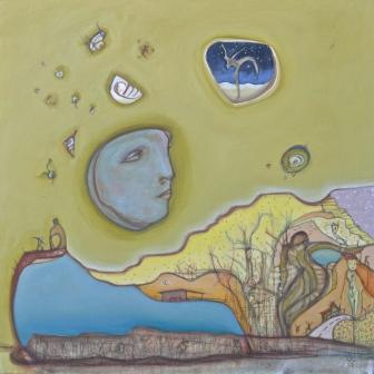 "mesa fresco, 24""x24"" mixed media on canvas, 2017."