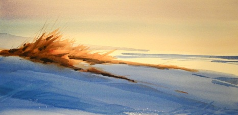 Dune Morning 1 22 x 30 Watercolor on paper