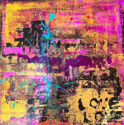 SLAVE TO THE RHYTHM - acrylic on canvas
