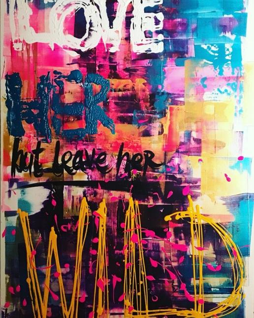 WILD - acrylic on canvas